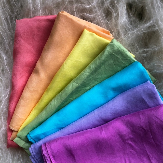 Individual Rainbow or 7 pack ~ Silk Playcloths