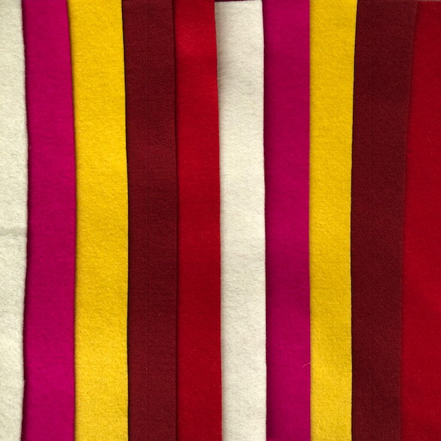 Christmas reds, gold, fuchsia and cream 10 pack