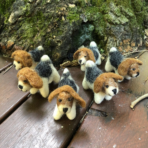 Puppies ~ wool felt ~ fair trade