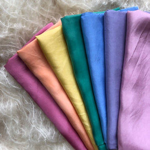 Individual Autumn Rainbow or 7 pack ~ Silk Playcloths