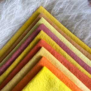 Yellows + Oranges ~ various sizes ~ individual sheets