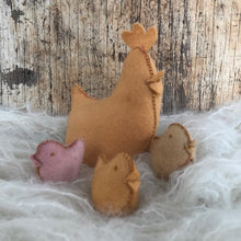 Load image into Gallery viewer, Chicken Kit to make ~ Hand dyed pure wool felt