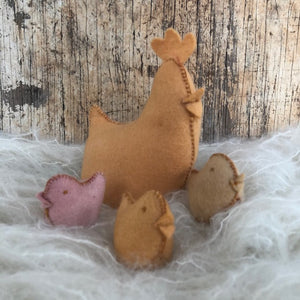 Chicken Kit to make ~ Hand dyed pure wool felt