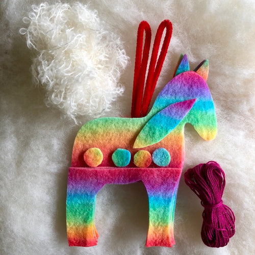 Horse Kit to make ~ Hand dyed pure wool felt