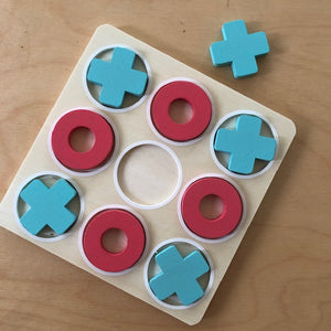 Wooden Noughts + Crosses Game
