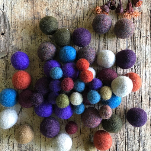 Winter Tones Felt Balls