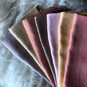 Earthy Autumn Tones ~ Silk Playcloths (single colours or 7 piece pack)
