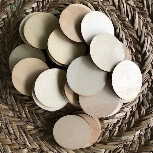 Wooden discs ~ sensory + loose parts play ~ 10 pack