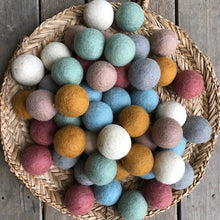 Load image into Gallery viewer, 5cm wool felt balls ~ Earthy Tones pom poms ~ fair trade