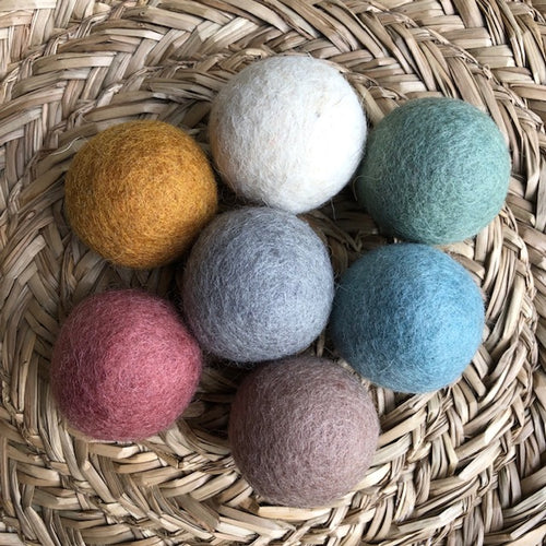 5cm wool felt balls ~ Earthy Tones pom poms ~ fair trade