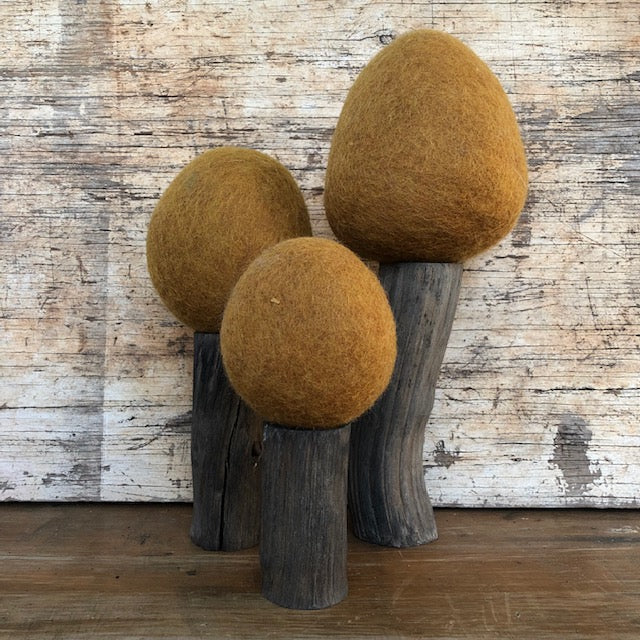 Wool felt EARTH RANGE Spring trees ~ fair trade