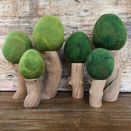 Wool felt Spring + Summer trees ~ fair trade