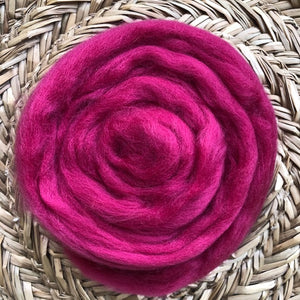 Raspberry fleece roving