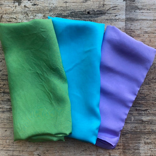 Mermaid 3 pack ~ Silk Playcloths