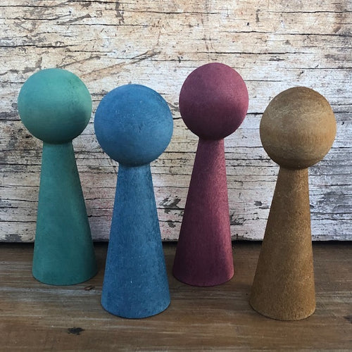 Wooden Earth Dwellers ~ set of 4
