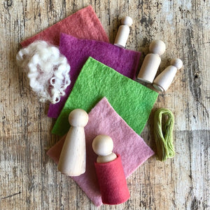 peg doll set ~ make your own ~ choose your colour palette.