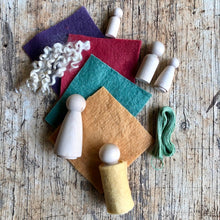 Load image into Gallery viewer, peg doll set ~ make your own ~ choose your colour palette.