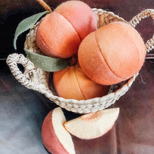 Load image into Gallery viewer, peachy tones ~ hand dyed wool felt