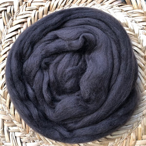 Coffee fleece roving