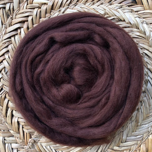 Chocolate fleece roving