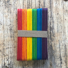 Load image into Gallery viewer, Rainbow wooden craft sticks