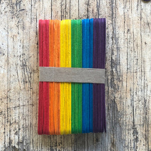 Rainbow wooden craft sticks