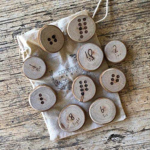 Wooden Counting Coins 1 ~ 10