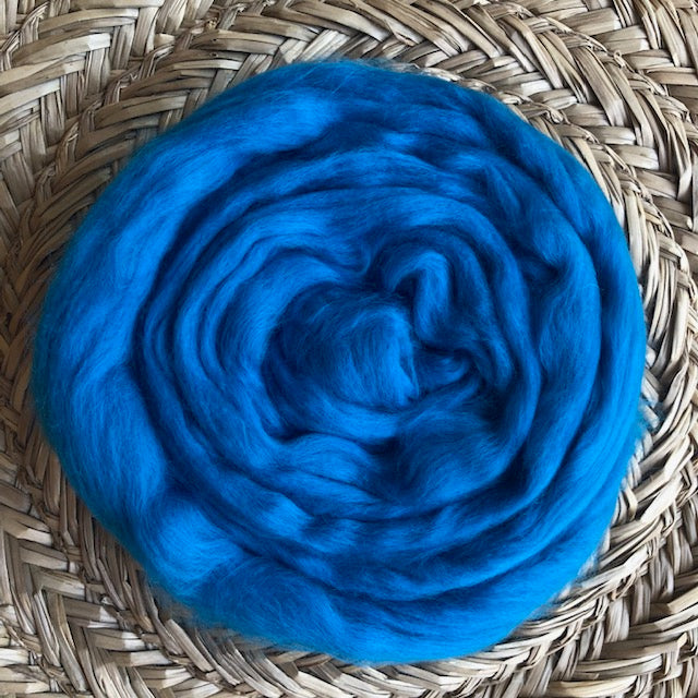 Cobalt fleece roving