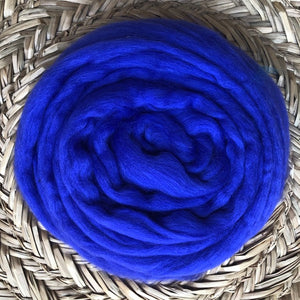Peacock fleece roving