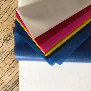 Kite Paper ~ Assorted colours waxed transparent paper.