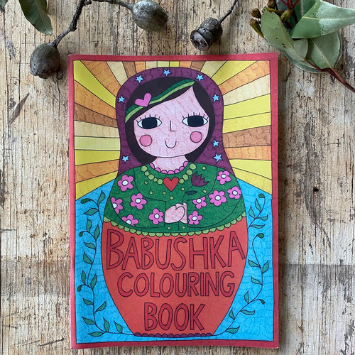Babushka Colouring Book