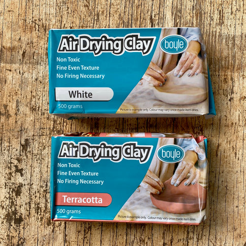 Air Drying Clay ~ Terracotta + White