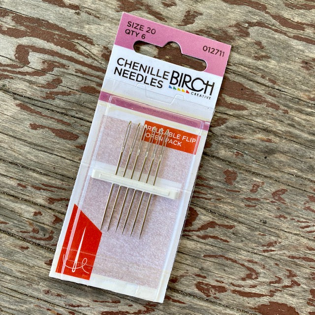 Chenille no. 20 sewing needles