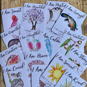 Positive Affirmation Cards for Kids ~ Australian theme