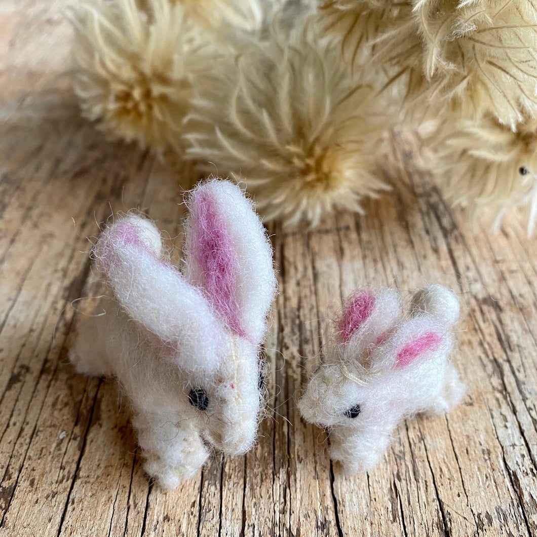 Bunnies ~ wool felt ~ fair trade