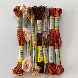Earthy embroidery thread ~ matches beautifully with the EARTHY AUTUMN TONES pack of Hand Dyed Wool Felt