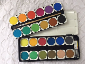 Nerchau opaque water colour paints ~ 24 set