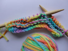 Load image into Gallery viewer, Knitting Kit~Bamboo Needles & Rainbow Hand Painted Wool (choose your amount of wool)