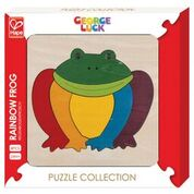 Rainbow Frog Puzzle ~ 7 pieces ~ George Luck