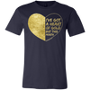 I've Got A Heart Of Gold But This Mouth T-shirt - Tattered Halo