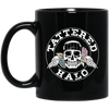 Tattered Halo Skull Logo Mug - Black