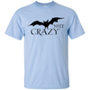 Bat Shit Crazy Tee - Classic Light Blue T-shirt - Tattered Halo