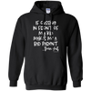 If Cussing Bad Parent  Pullover Hoodie - Black - Tattered Halo