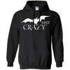 Bat Shit Crazy Pullover Hoodie Black - Tattered Halo