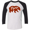 Mama Bear Raglan - White Black - Tattered Halo