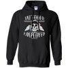 Tattooed and Employed Hoodie - Black Pullover - Tattered Halo