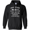 I Have Three Moods Black Hoodie - Pullover - Tattered Halo