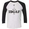 IDGAF Black Sleeve Raglan - Tattered Halo