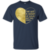 Heart of Gold Navy T-shirt - Classic - Tattered Halo