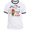 Touch My Elf Girl Ringer Tee